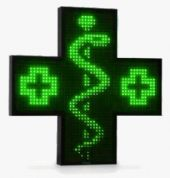 Pharmacy LED Cross Sign Monochromatic 1350